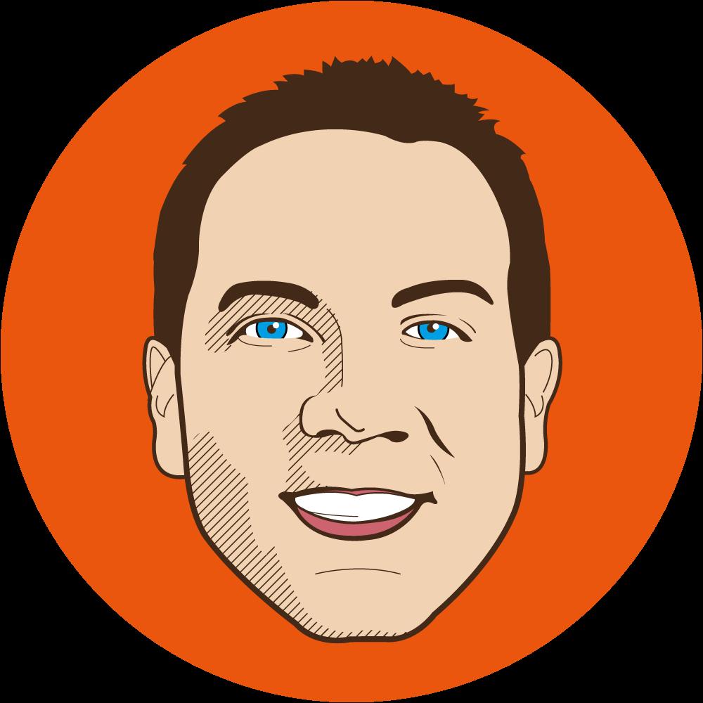 Illustrated headshot of Matt Novak