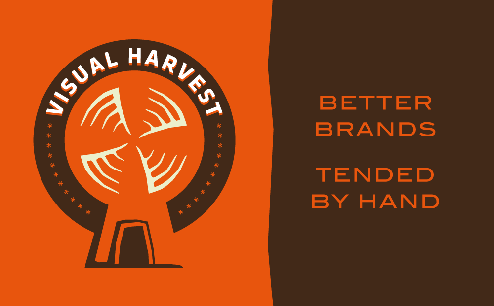 Illustrated promotional banner for Visual Harvest