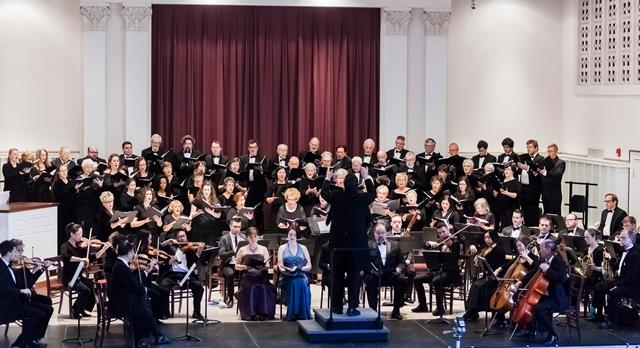Elmhurst Choral Union, orchestra, and soloists in concert