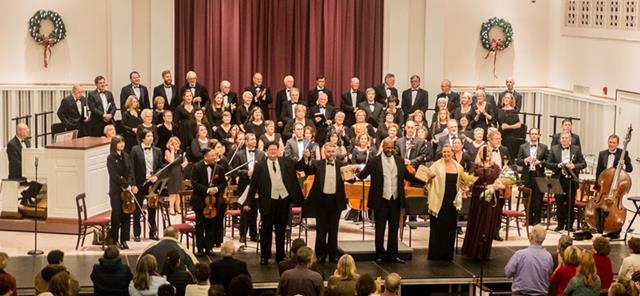 Elmhurst Choral Union & Orchestra, soloists, & conductor Scott Uddenberg